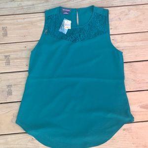 Worthington lace sleeveless dress shirt NWT small
